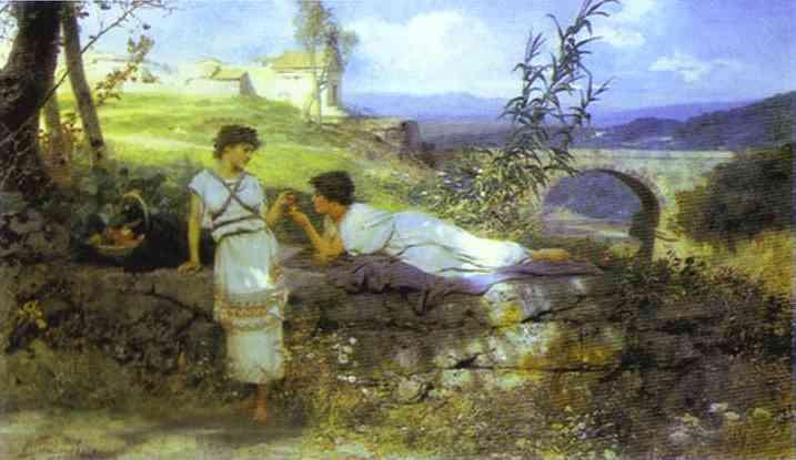 Oil painting:Talisman. 1880