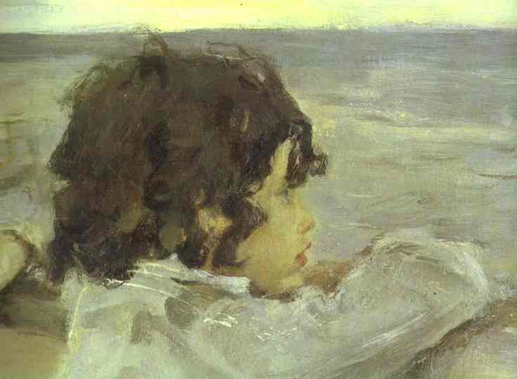 Oil painting:The Children. (Yura Serov) Detail. 1899