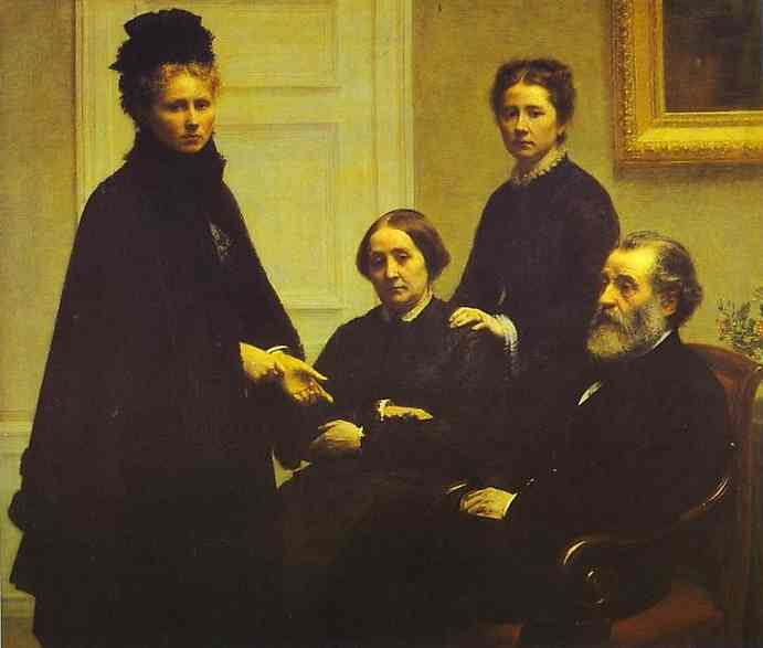 Oil painting:The Dubourg Family. 1878
