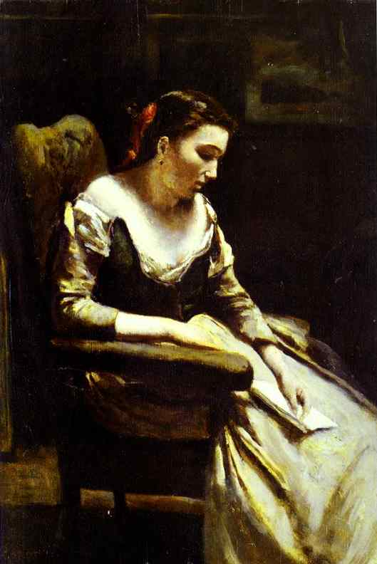 Oil painting:The Letter. 1865