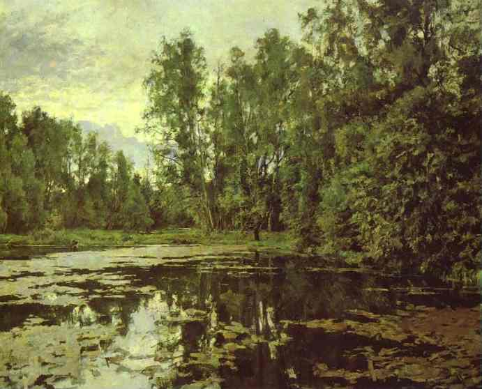 Oil painting:The Overgrown Pond. Domotcanovo. 1888