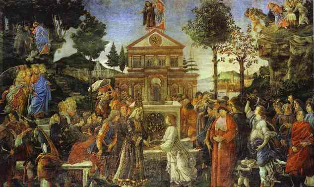 Oil painting:The Temptation of Christ. 1481