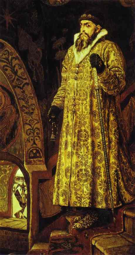Oil painting:Tsar Ivan IV the Terrible. 1897