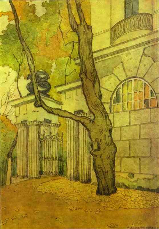 Oil painting:Tsarskoye Selo. Kameronov Gallery.