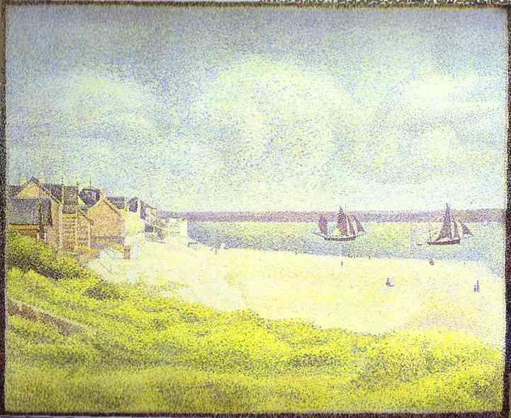 Oil painting:View of Crotoy, the Valley. 1889