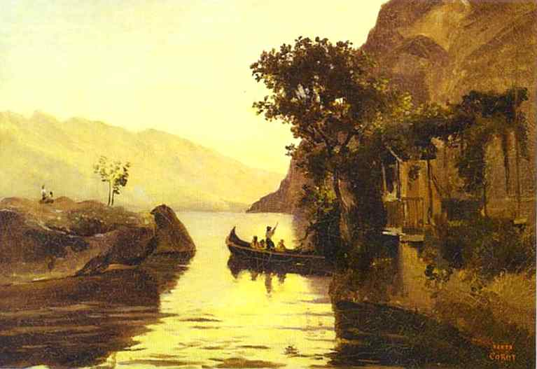 Oil painting:View of Riva in the Italian Tyrol. 1834