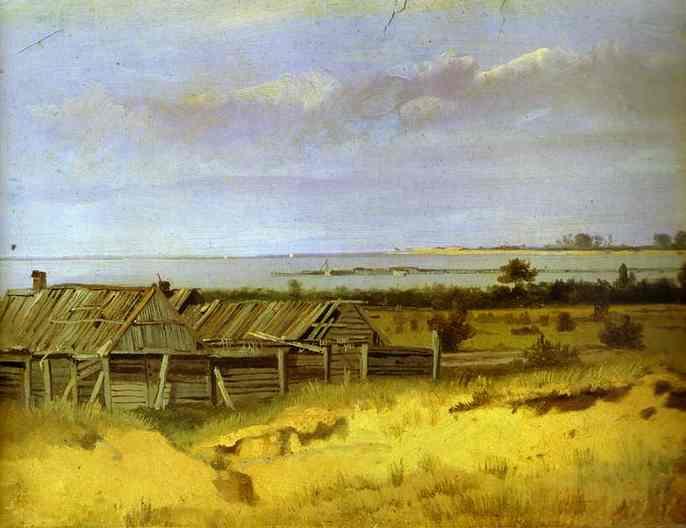 Oil painting:Village.