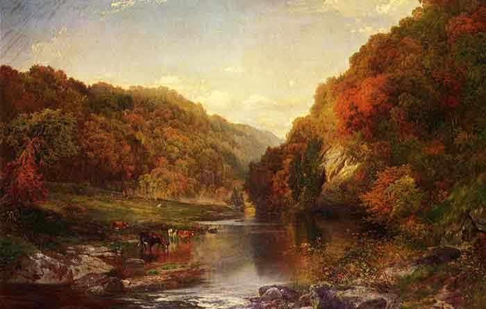 Oil painting for sale:Autumn on the Wissahickon, 1864