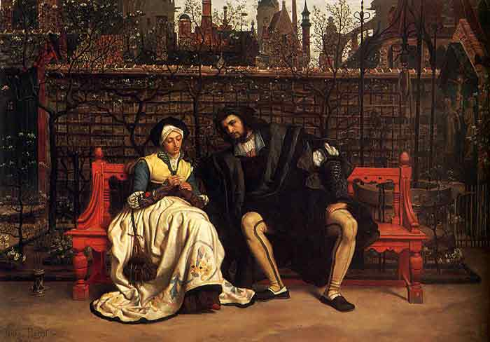 Oil painting for sale:Faust and Marguerite in the Garden, 1861