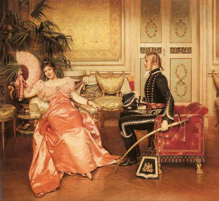 Oil painting for sale:Flirtation