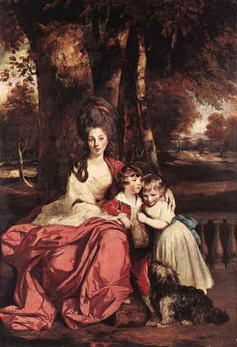 Oil painting for sale:Lady Delm and her Children, 1777-1780
