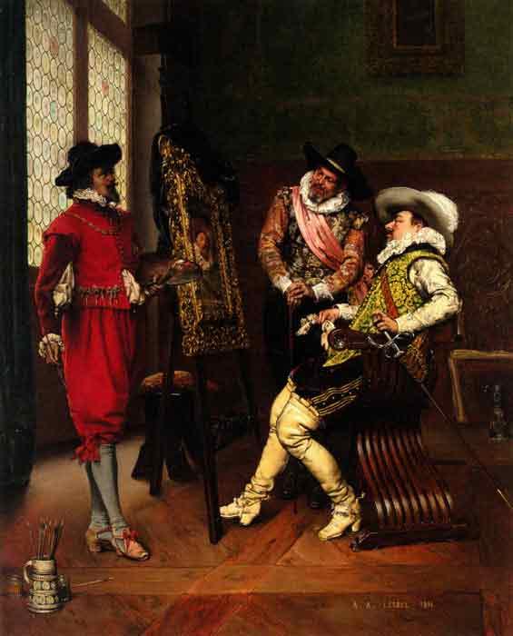 Oil painting for sale:Les Critiques [The Critics], 1891