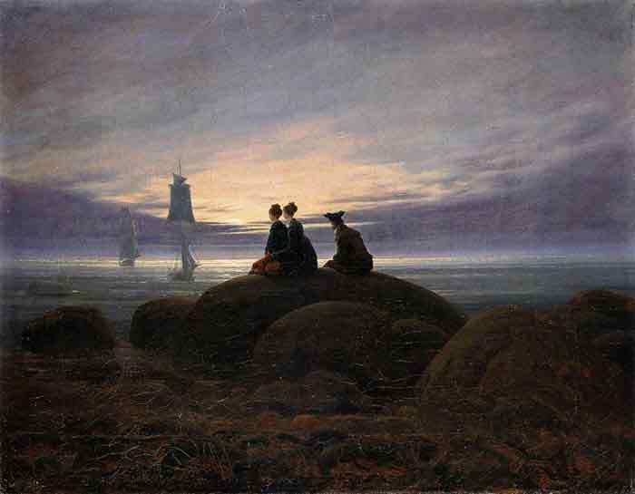 Oil painting for sale:Moonrise by the Sea, 1822
