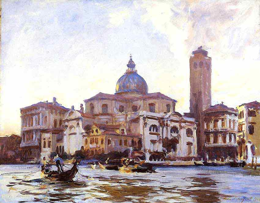 Oil painting for sale:Palazzo Labia and San Geremia Venice