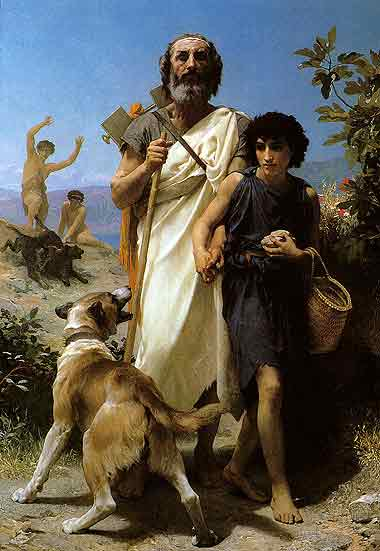 Homer and His Guide,1874
