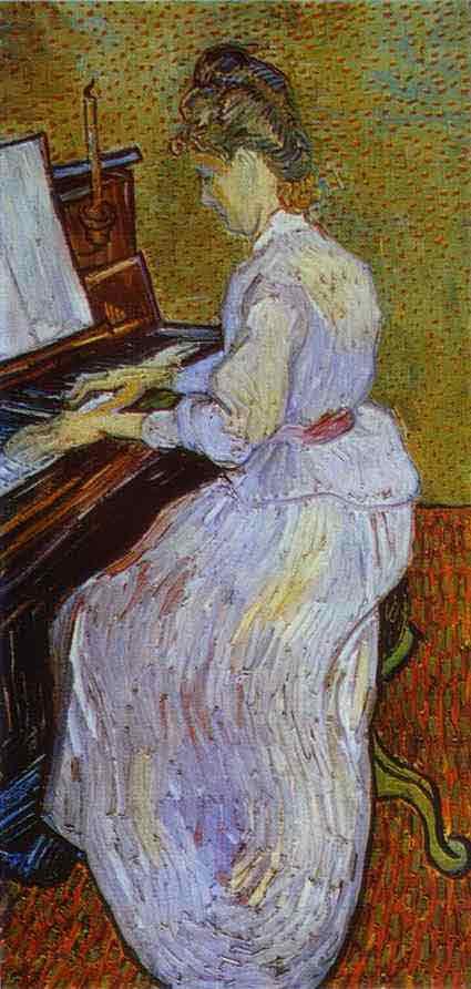 Mademoiselle Gachet at Piano. 1890
