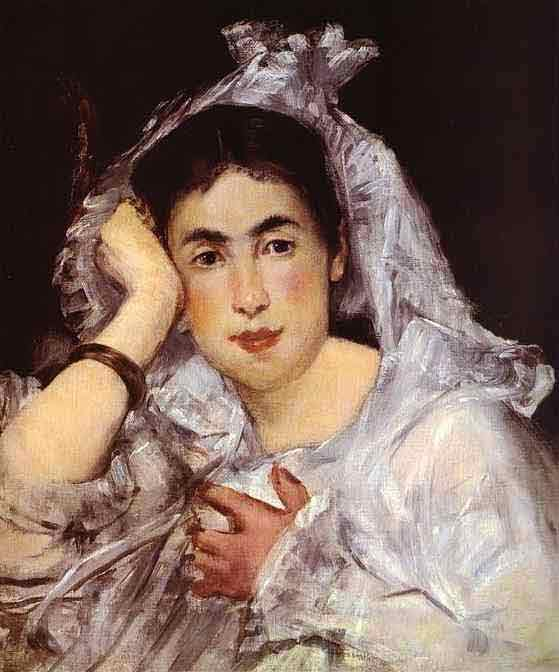 Marguerite de Conflans Wearing a Hood. c.1873