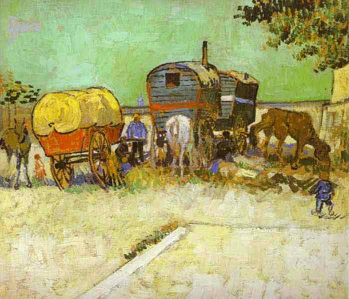 The Caravans, Gypsy Camp near Arles. 1888