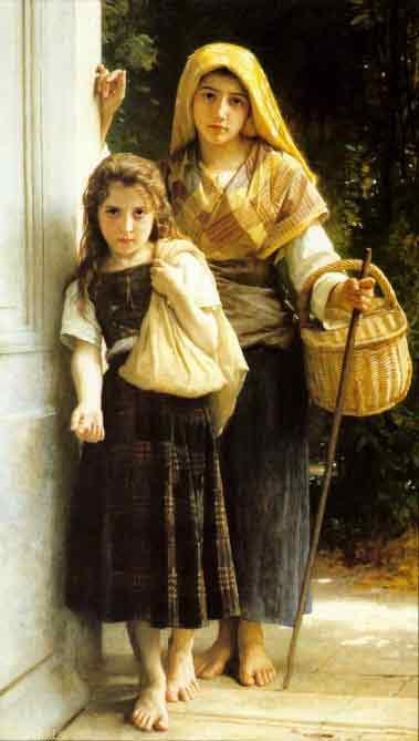 The Little Beggar Girls,1890