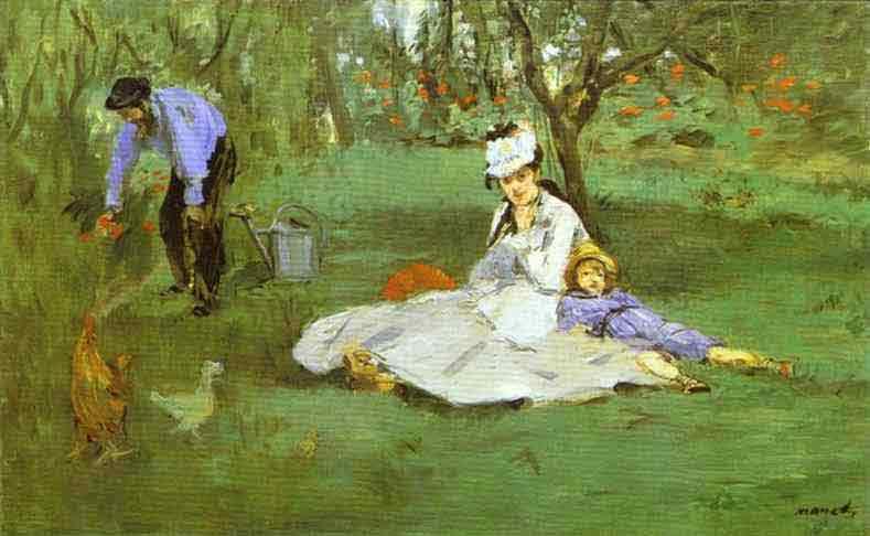 The Monet Family in the Garden. 1874