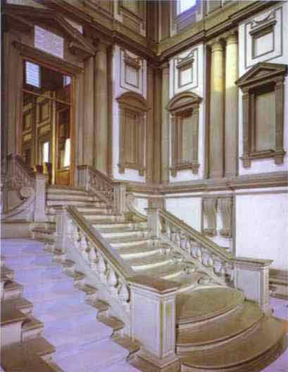 Vestibule of the Laurentian Library. 1524-1559