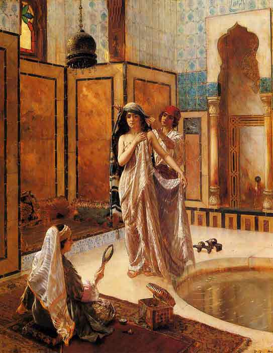 Oil painting for sale:The Harem Bath