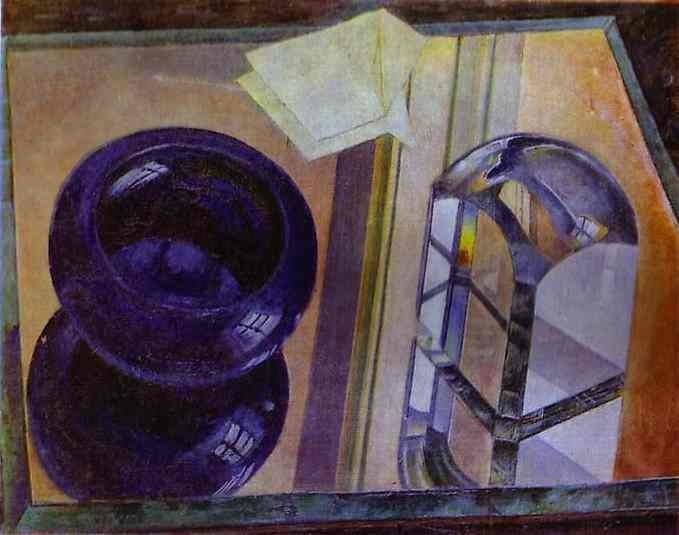 Oil painting:Still Life with Blue Ashtray. 1920