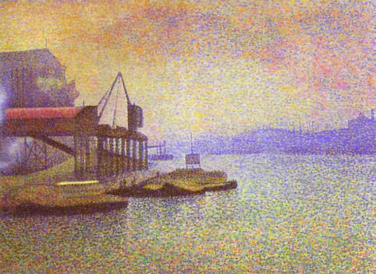 Oil painting:View of the Thames. 1892