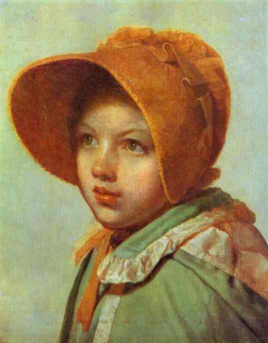 Oil painting:Portrait of A. A. Venetsianova. 1825