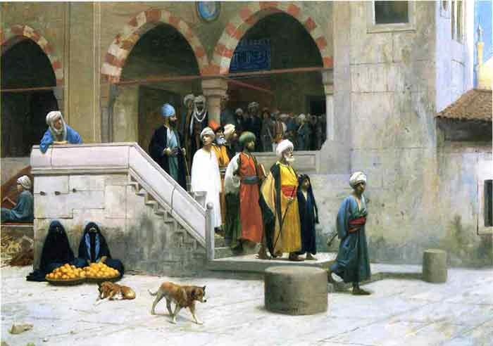 Oil painting for sale:Leaving the Mosque , 1903