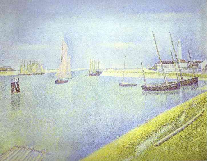 Oil painting:The Channel of Gravelines, the Direction to the Sea. 1890