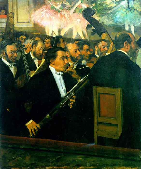 Oil painting for sale:The Orchestra of the Opera, c.1870