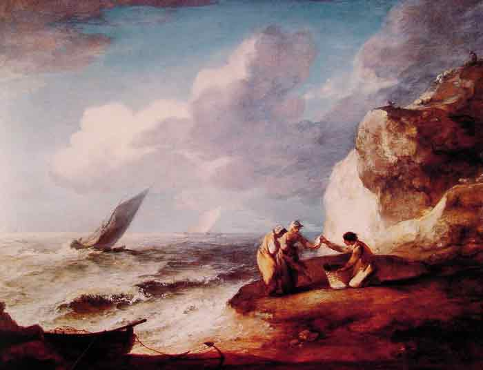 Oil painting for sale:A Rocky Coastal Scene