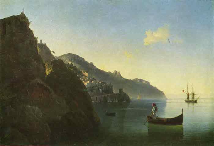Oil painting for sale:The Coast Near Amalfi, 1841
