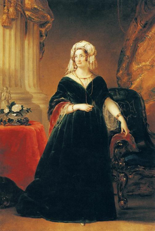 Oil painting:Portrait of Princess Tatiana Vasilievna Yusupova. c. 1841