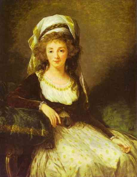 Oil painting:Portrait of a Lady. 1789