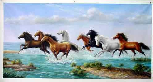 Oil painting for sale:horses-043