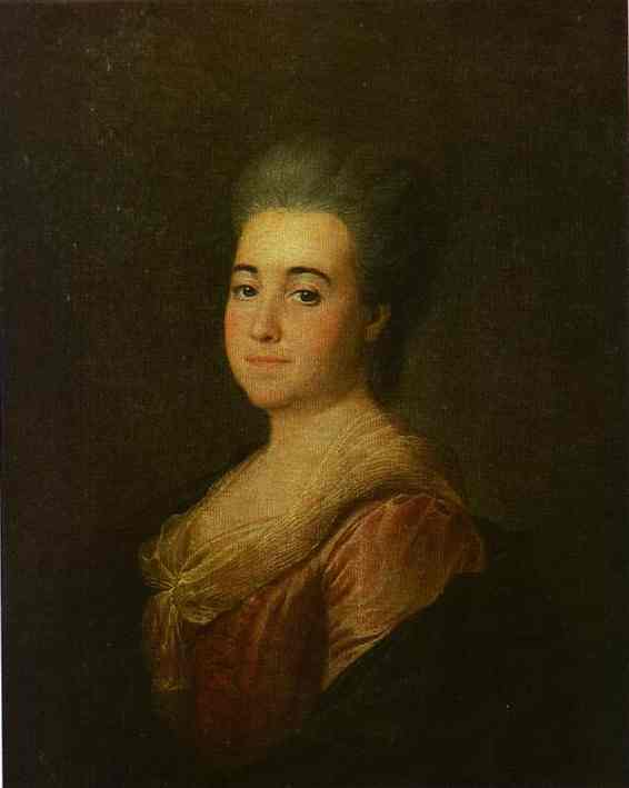 Oil painting:Portrait of an Unknown Lady in a Pink Dress. 1774