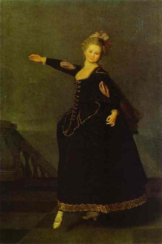 Oil painting:Portrait of N. S. Borschova. 1776