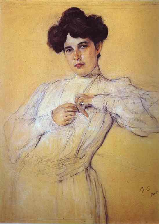 Oil painting:Portrait of Maria Botkina. 1905