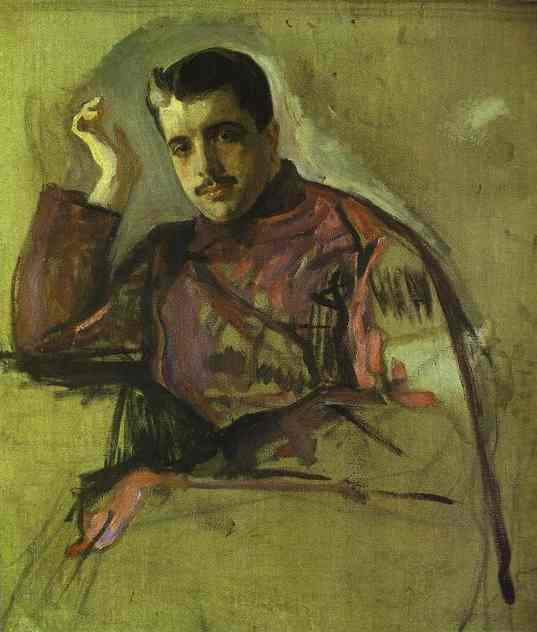 Oil painting:Portrait of Sergei (Serge) Diaghilev. 1904