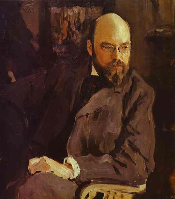 Oil painting:Portrait of the Artist Ilya Ostroukhov. 1902