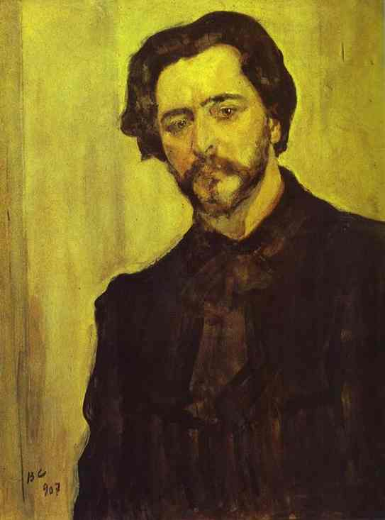 Oil painting:Portrait of the Writer Leonid Andreev. 1907