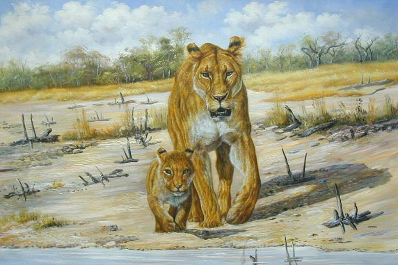 Oil painting for sale:lion-006