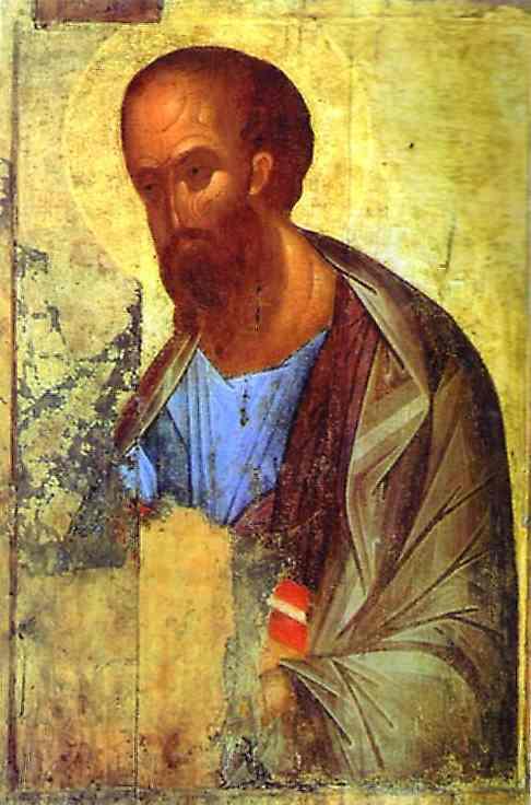 Oil painting:Apostle Paul. c. 1420