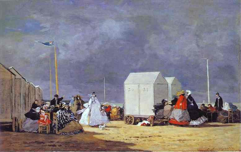 Oil painting:Approaching Storm. 1864