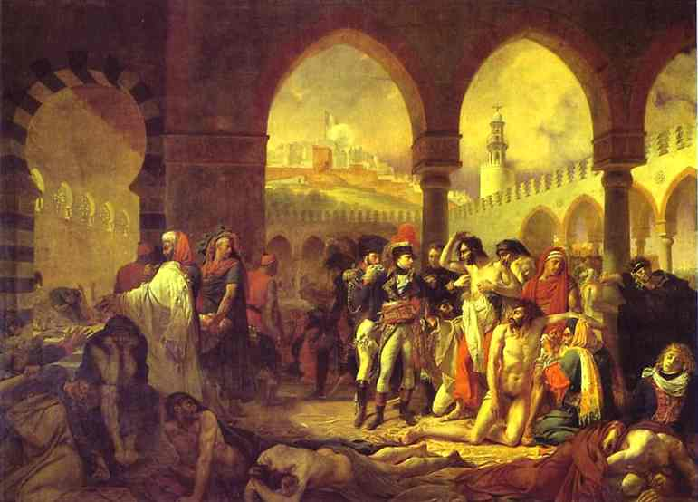 Oil painting:Bonaparte Visiting the Plague-Striken at Jaffa on 11 March 1799