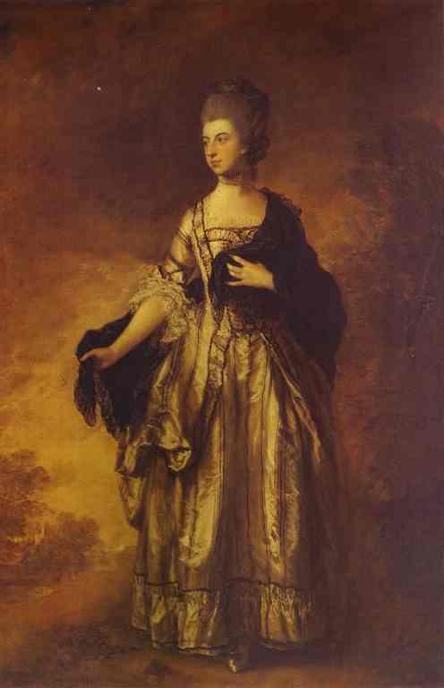 Oil painting:Isabella, Viscountess Molyneux. 1769