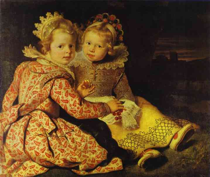 Oil painting:Magdalena and Jan-Baptist de Vos. c. 1622