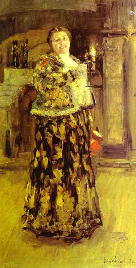 Oil painting: Mistress of the House. 1896
